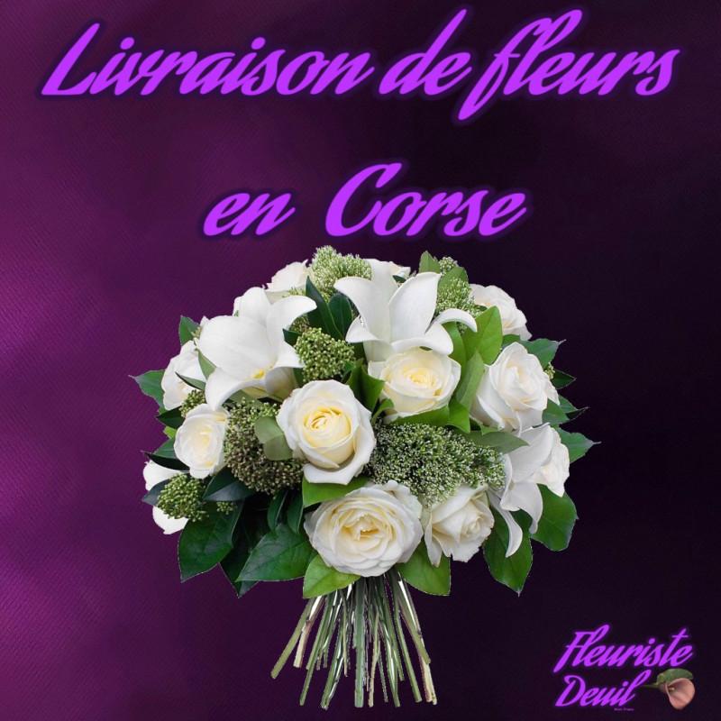 LIVRAISON DE FLEURS DEUIL EN CORSE
