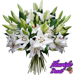 BOUQUET DE DEUIL TENDRES LYS