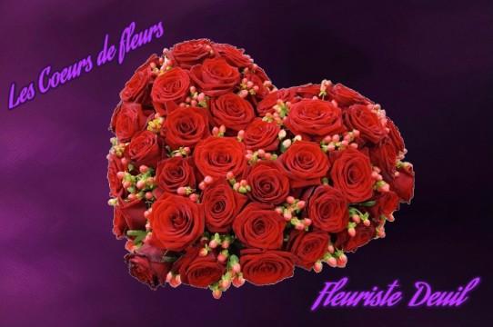 coeurs de fleurs deuil