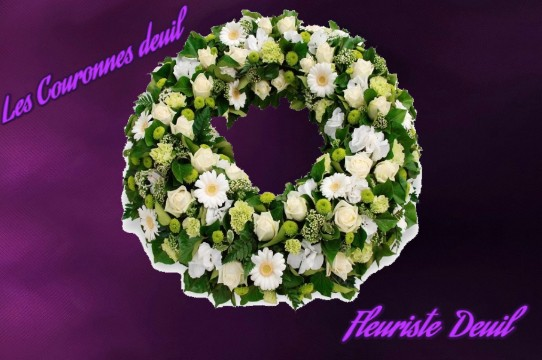 couronne de fleurs deuil